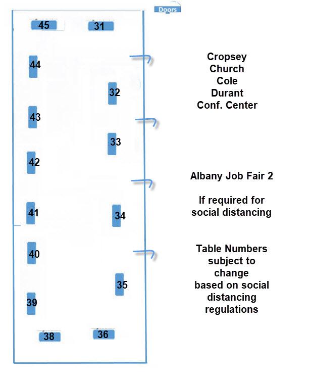 ALB Job Fair Map