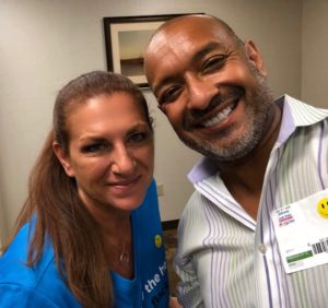 Merraine Groups Kelly Gutradt with the fantastic Felipe Moon Veterans Advocate Mentor Consultant extraordinare