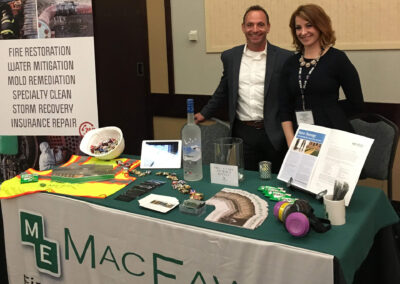 macfawn booth set up at convention